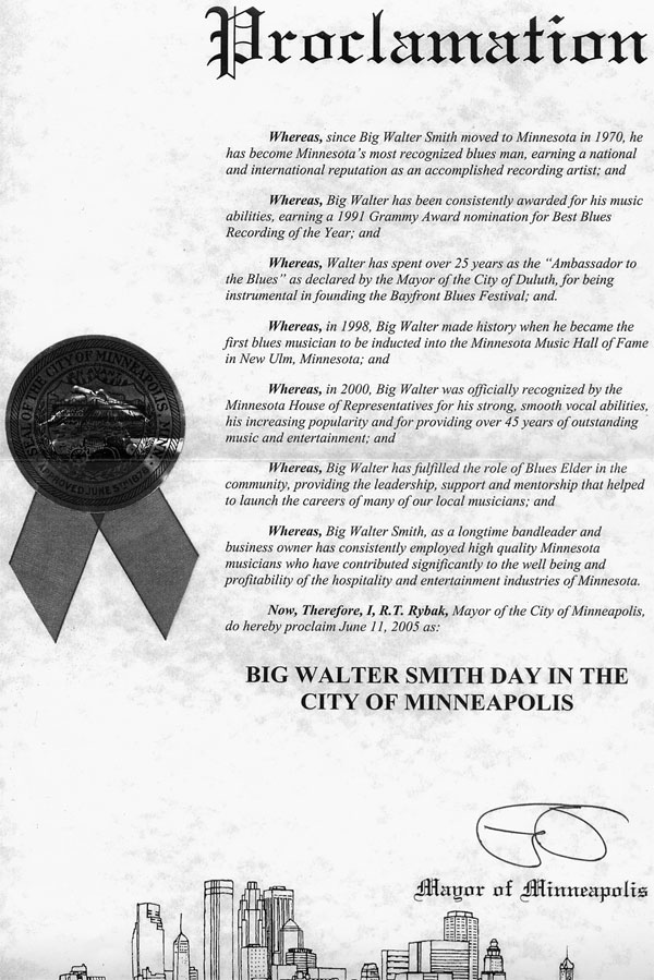 Big Walter Smith Day | June 11 2005